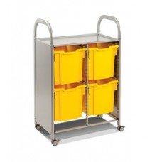 Callero Plus Double Cart with (4) Jumbo Trays