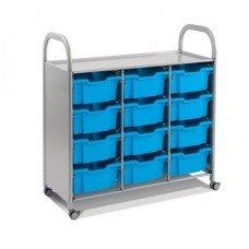 Callero Plus Treble Cart with (12) Deep Trays