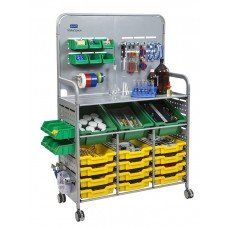 MakerSpace Cart with (3) Deep amd (12) Shallow Trays Plus Fixing Pack