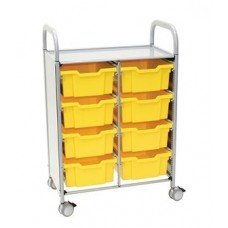 Callero Plus Double Cart with (8) Deep Trays