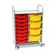 Callero Plus Double Cart (4) Deep & (8) Shallow Trays