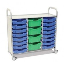 Callero Plus Treble Cart with (4) Deep & (16) Shallow Trays