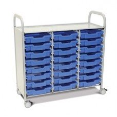 Callero Plus Treble Cart with (24) Shallow Trays