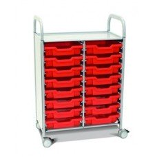 Callero Plus Double Cart with (16) Shallow Trays
