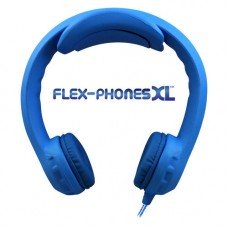 FLEX-PHONES XL Blue, Indestructible, Single-Construction Headphones For Teens