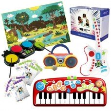 Early Learning Interactive Deluxe Pack - Includes: Augmented Reality Rug, Kids Karaoke Machine, Music Instruments, Custom Puzzles