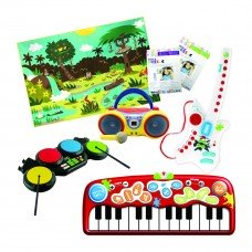 Early Learning Interactive Starter Pack - Includes: Augmented Reality Rug, Kids Karaoke Machine, Music Instruments, Custom Puzzles