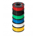 ABS PLUS Premium 1.75 Filament,1000g,6-Pack,Blk,Wht,Red,Ylw,Blu,Grn (28592)