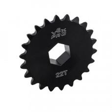 #25 Sprocket w/ Hub - 22t - 1/2  Hex ID (217-2640)