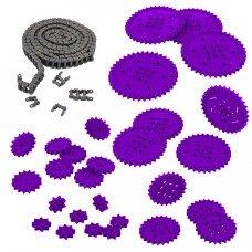 Chain & Sprocket Kit (Purple) (228-3956)